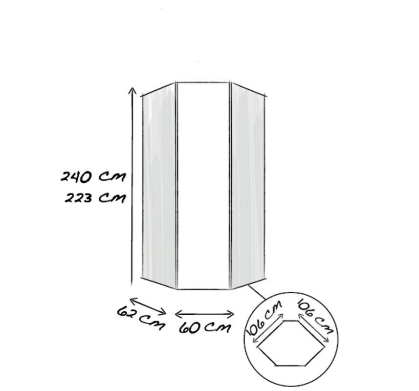 45°-Eckelement 1-türig 60cm